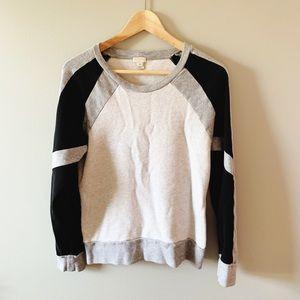 J Crew colorblock sweatshirt size M